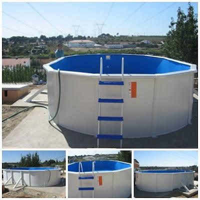 Montagem De Fotos. Montagem de piscina em Águas
