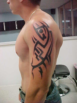 Tribal Tattoo Design in side Hand