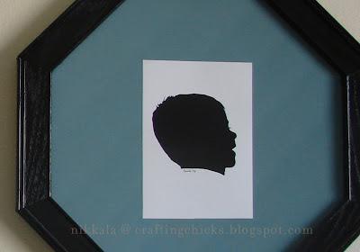 DIY Framed Silhouettes