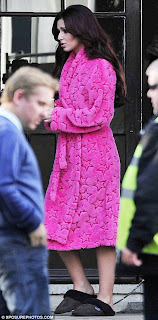 Cheryl Cole in Just Sheepskin slippers.  Photo supplied by Cherry PR.