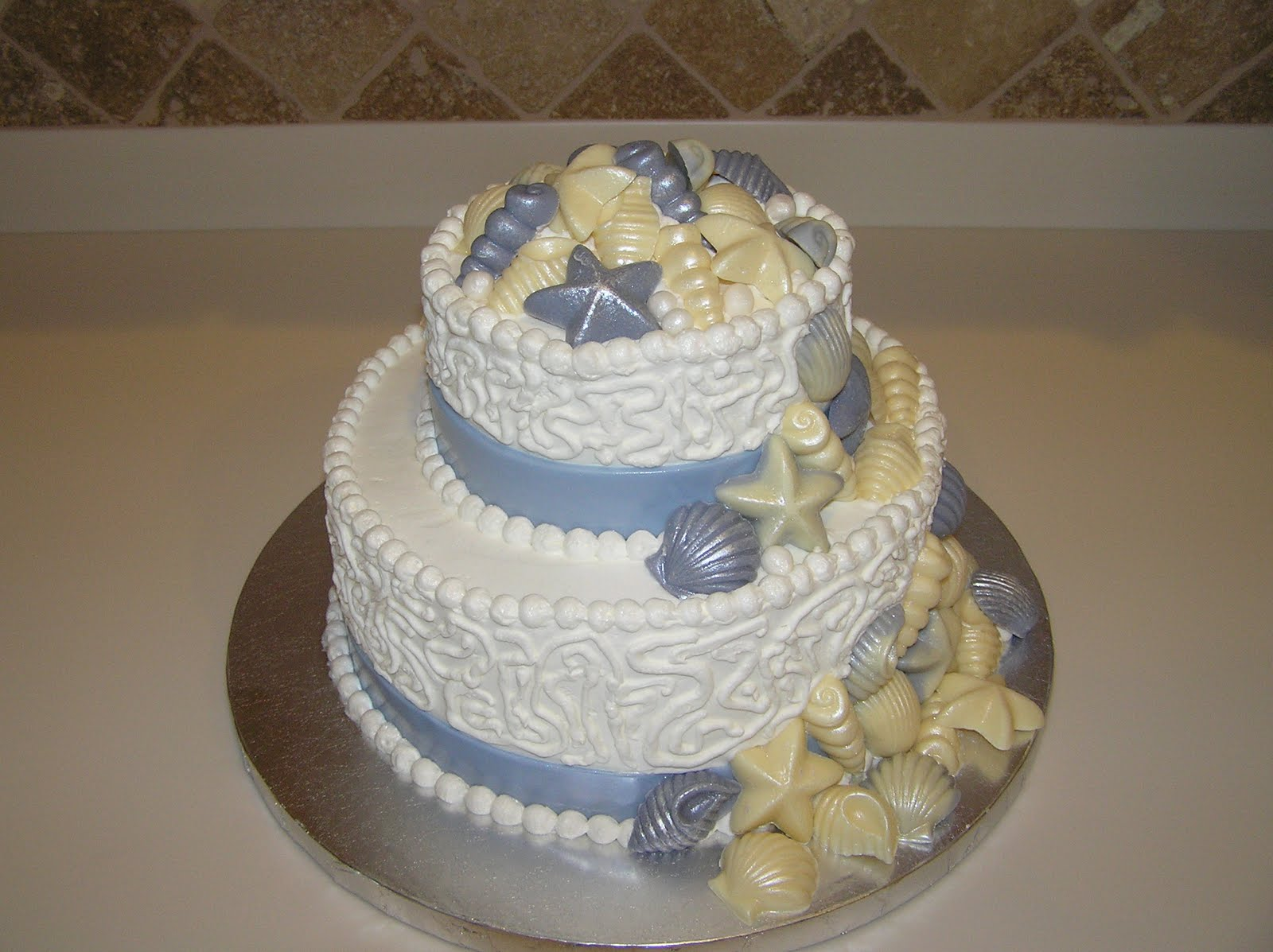 Wedding Cakes Pictures Seashell Wedding Cake