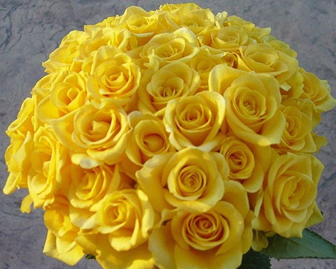 Yellow roses wedding bouquets ideas decorations