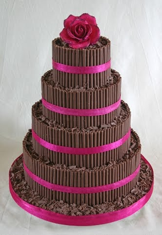 Wedding Cakes Pictures Chocolate Curls Wedding Cake