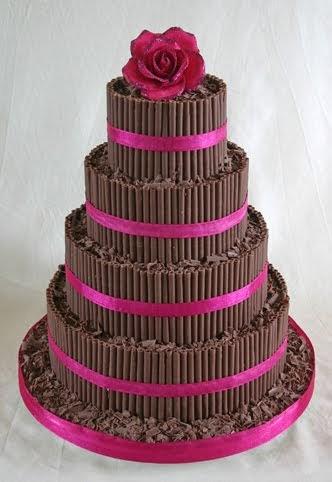 Wedding Cakes Pictures Chocolate Curls Wedding Cake
