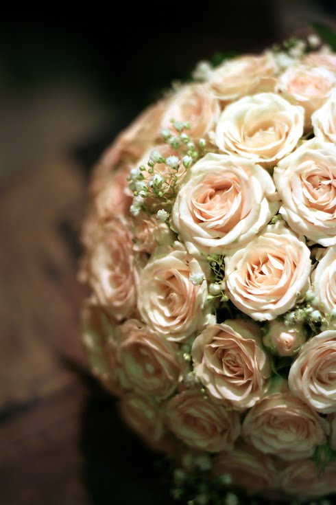 Bouquet Bridal: Pale Pink Rose Bouquets