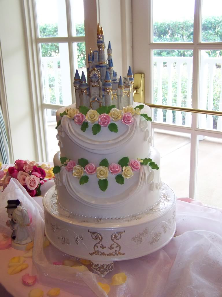 wedding cake castle toppers