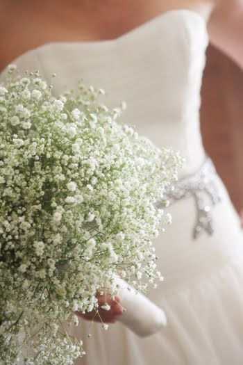 bouquet bridal baby's breath bouquet, Natural flower