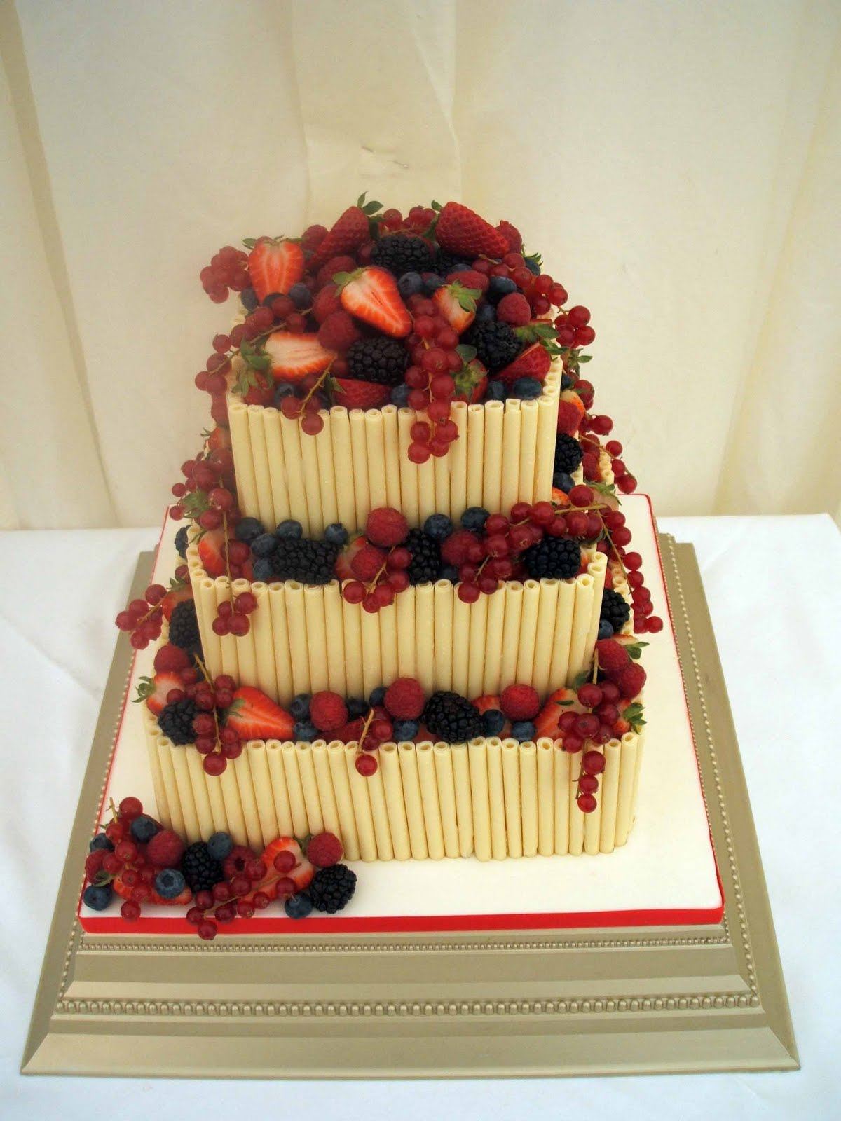 Wedding Cakes White Chocolate Cigarillos and