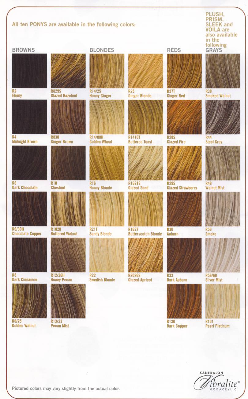 Honey Blonde Hair Color Chart
