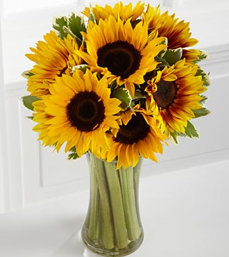 Handtied sunflower bouquet
