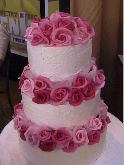 Cheap wedding cakes for the holiday square wedding cakes with pink square wedding cakes with pink roses mightylinksfo