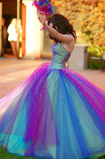 Blue and Purple Wedding Dress ~ WEDDING DRESS