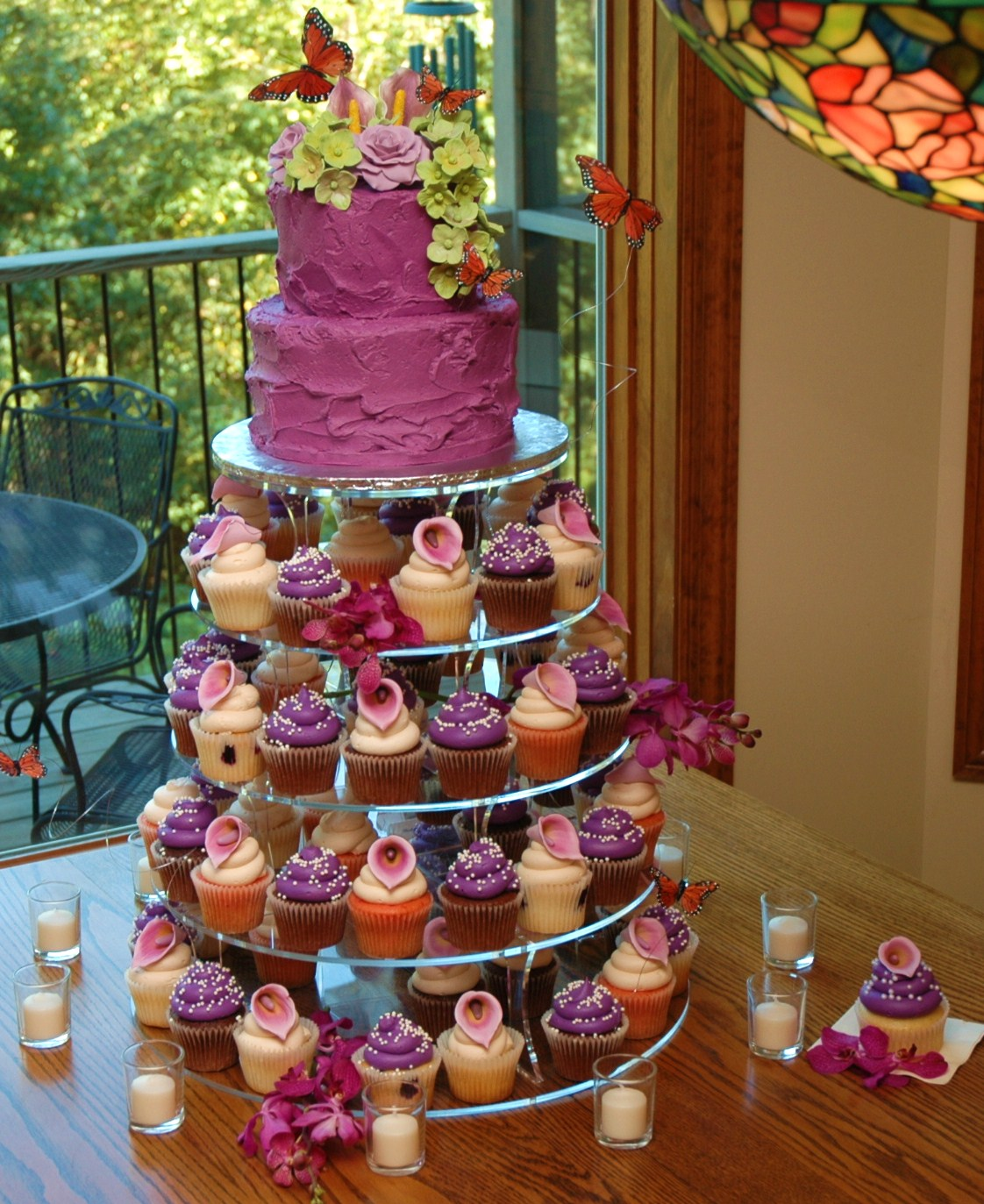 Wedding Cakes Purple Wedding Cupcakes