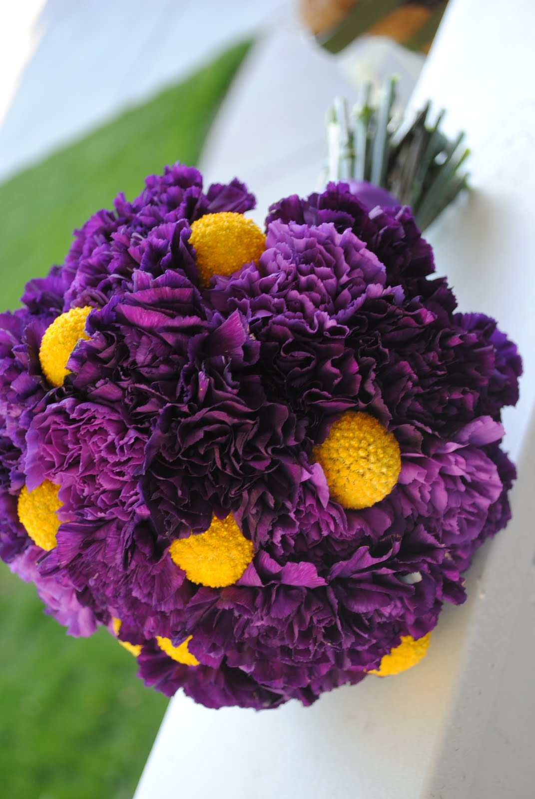 Wedding By Designs Purple And Yellow Bouquets