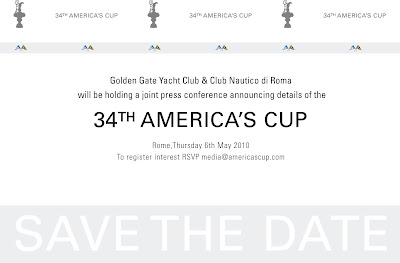 Invitation Roma pour la 34 America's Cup