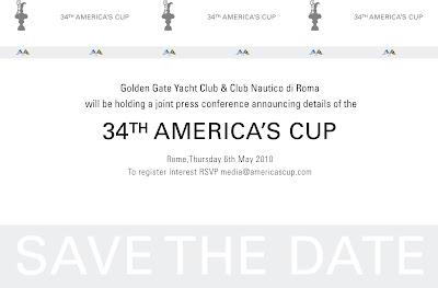 Invitation Roma pour la 34 America's Cup
