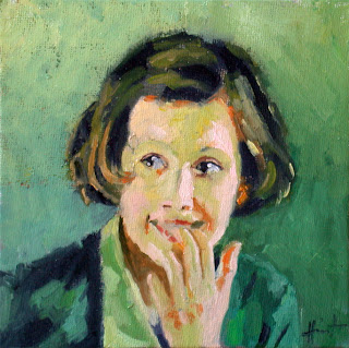 Happy in Green by Liza Hirst