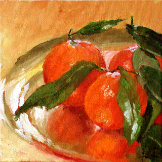 Clementines on Gold by Liza Hirst