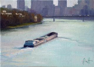 Barge in Paris II by Liza hirst