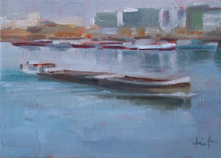 Barge on the Seine II by Liza Hirst