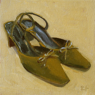 Shoes with bows by Liza Hirst