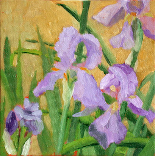Purple Lilies by Liza Hirst