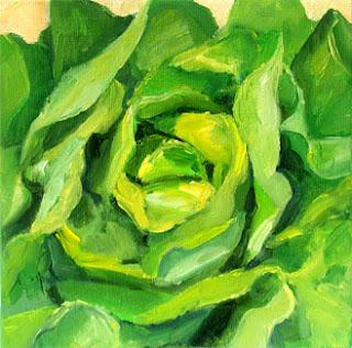 Salade verte by Liza Hirst
