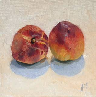 Peaches by Liza Hirst