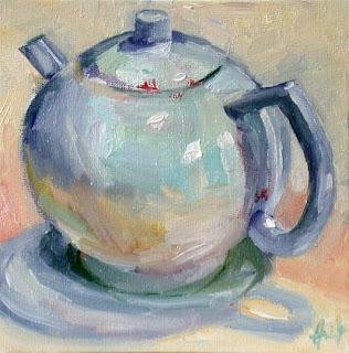 German Teapot by Liza Hirst