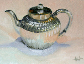 Silver Teapot by Liza Hirst