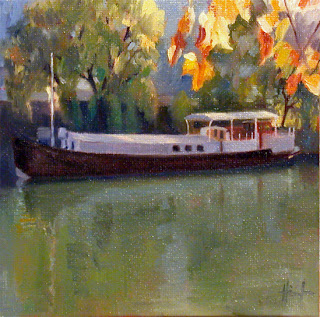 Long Houseboat by Liza Hirst