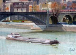 Bridge over the Seine by Liza Hirst