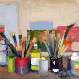 Brushes and Tins by Liza Hirst