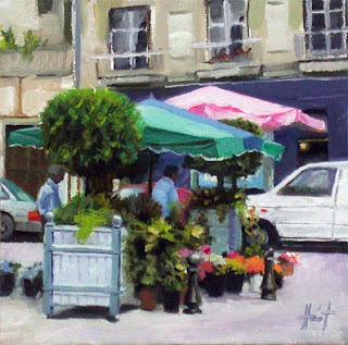 Flowers in Perigueux by Liza Hirst