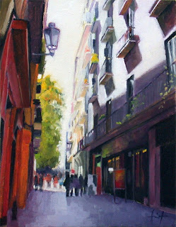 Street in Barcelona by Liza Hirst