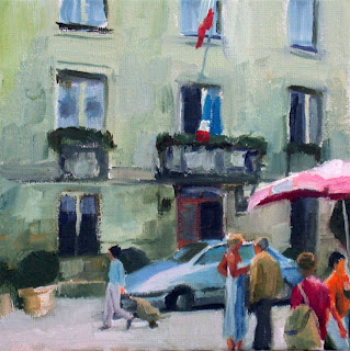 Market Perigueux I by Liza Hirst