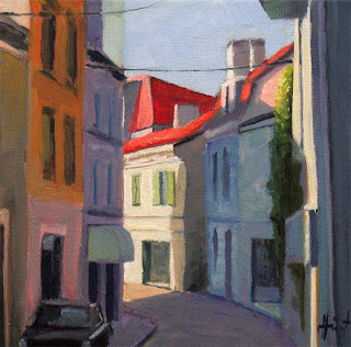 Backstreet in Riberac by Liza Hirst
