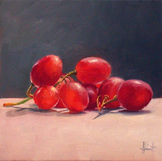 Study of Red Grapes by Liza Hirst