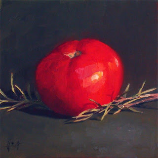Tomatoe on Rosemary by Liza Hirst
