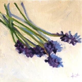 Grape Hyacinths by Liza Hirst