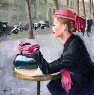 Mum in Paris by Liza Hirst