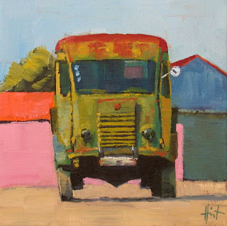 Camion Olive by Liza Hirst