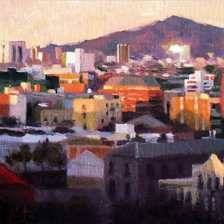 Early Morning Barcelona by Liza Hirst