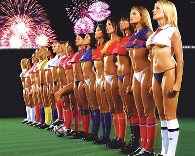 Hot Sexy Football Girls team Wallpaper