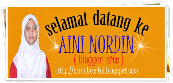 welcome to aini nordin blog