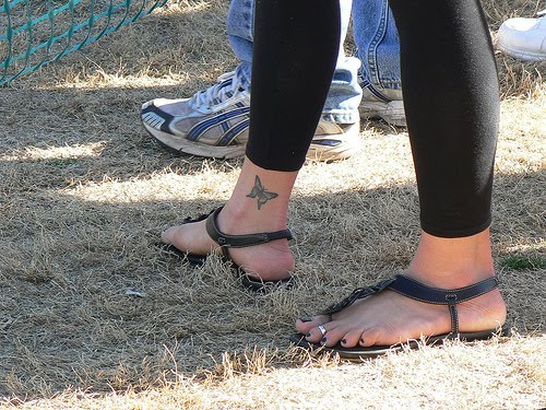 Label: Butterfly Tattoo - Ankle Tattoos For Girls | author: designs