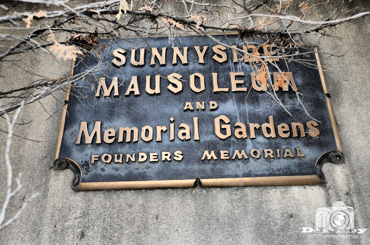 Bronze Marker at the Mausoleum