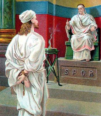 """Jesus before Pilate"" - Artist unknown"