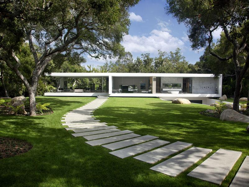 Glass pavilion house modern design by for Glass houses for sale in california