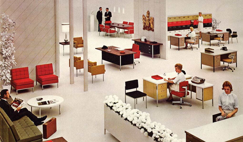 Office then and now modern design by for Total office design 50 contemporary workplaces